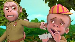 পুলিশ বানর এবং জঙ্গল চোর - Monkey Song | Bengali Rhymes for Children | Infobells