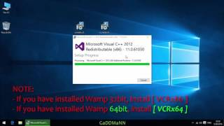 Fix MSVCR110.DLL, VCRUNTIME140.DLL [WAMP SERVER]