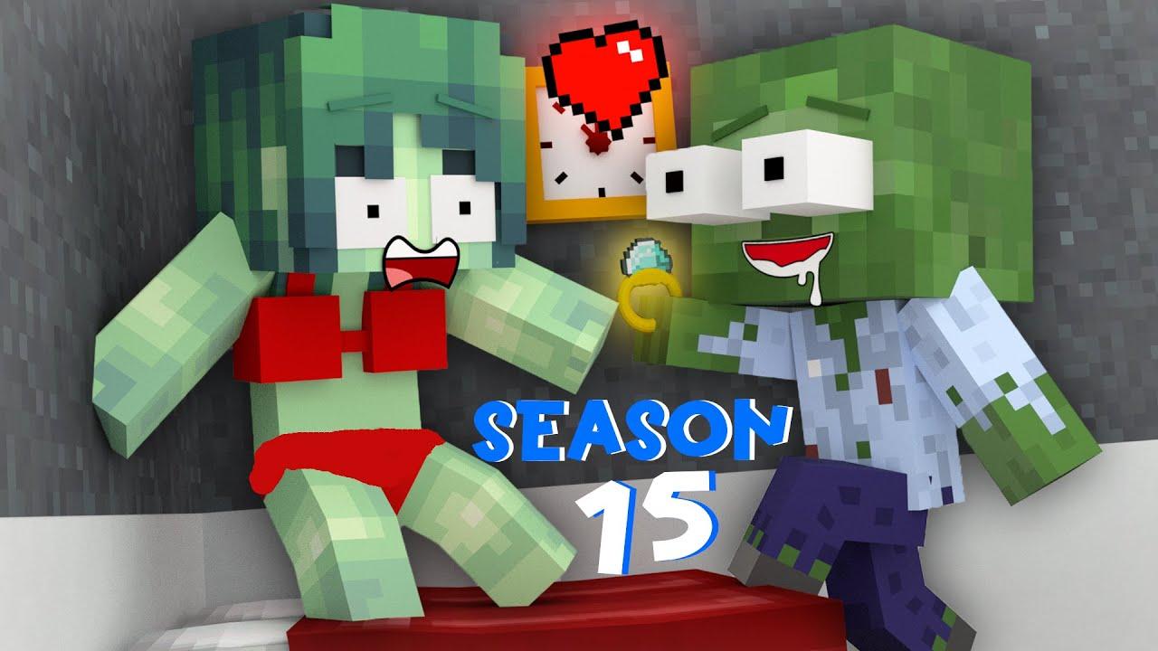 Monster School : SEASON 15 ALL EPISODE - Minecraft Animation