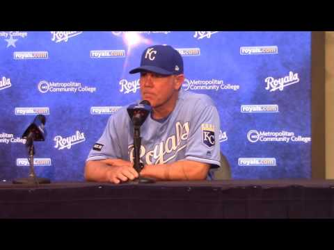 Royals manager Ned Yost addresses media after 8-2 loss