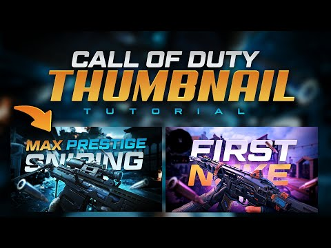 Call Of Duty Thumbnail Tutorial (FREE TEMPLATE!!) - Tutorial By EdwardDZN