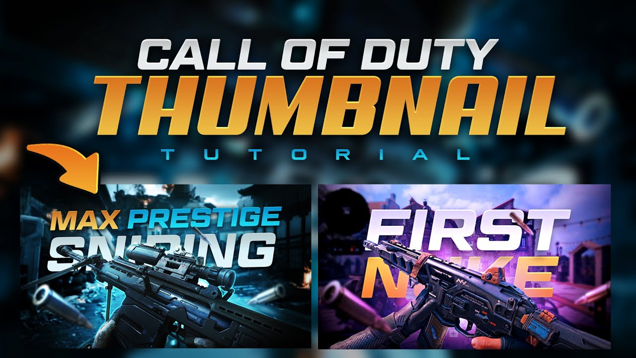 Call Of Duty Thumbnail Tutorial Free Template Tutorial By