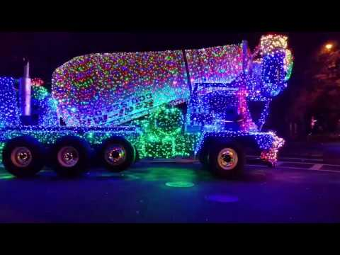 Outlandish Decorated Cement Truck's Christmas 2016