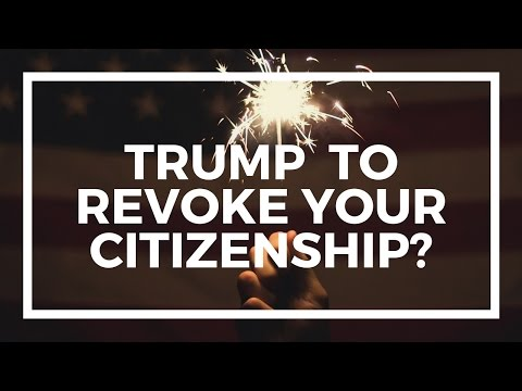 Trumps wants to revoke citizenship for flag burning
