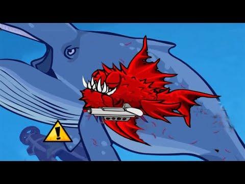 Piranha Attacks Whales | Feed Us Lost Island #2