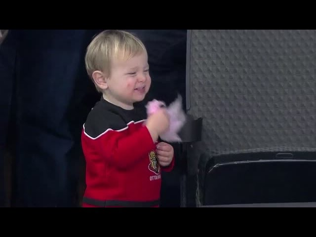 Little Sens fan has the best day ever