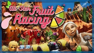 All Star Fruit Racing - FAST JUICY KART RACING! (4 Player Gameplay)