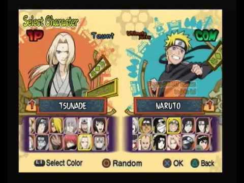 naruto shippuden ultimate ninja 5 psp gameplay