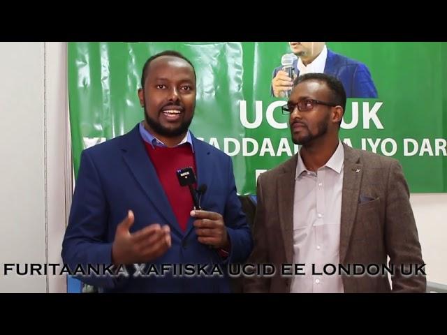 Guddoomiye Faysal Cali Waraabe oo xadhiga ka jaray xafiis Cusub oo laga furay magaalada London .