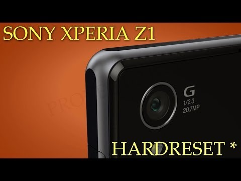 Sony Xperia Z1 Hard Reset, Soft Reset y Reset ✔