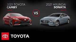 homepage tile video photo for 2021 Toyota Camry vs. 2021 Hyundai Sonata | All You Need to Know | Toyota