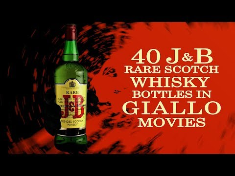 J&B Rare Scotch Whisky bottles in Giallo Movies