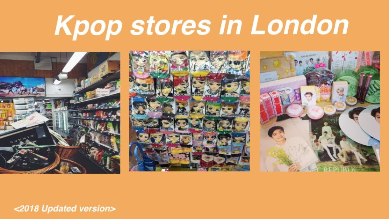 Kpop stores in London 2018