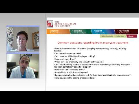 Answers to Important Aneurysm Treatment Questins with the Executive Director of BAF