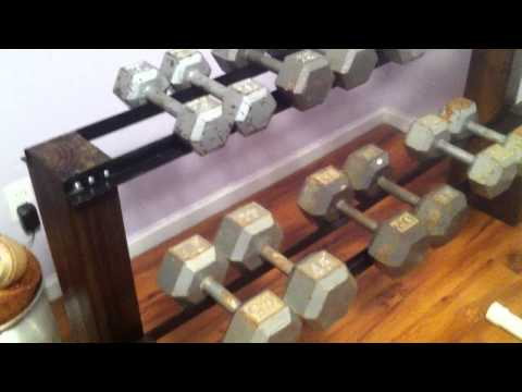 DIY Dumbbell Rack
