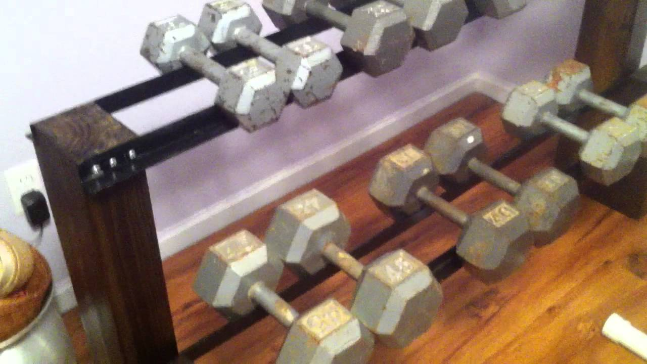DIY Dumbbell Rack - YouTube