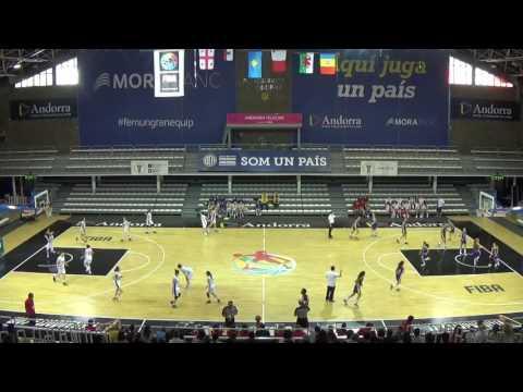 Women's Basketball European Championship 2016 division C U16 ANDORRA vs GEO part 1 final