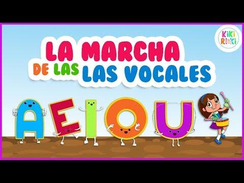 Canción De Las Vocales A E I O U | La Marcha De Las Vocales | Canciones Infantiles Escolares Aeiou