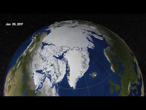 Arctic Sea Ice from March to September 2017
