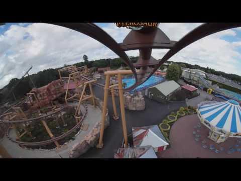 360 degree VR POV Flight of the Pterosaur Paultons Park
