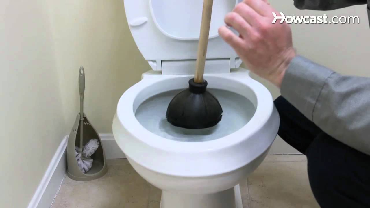 Amazing How To Fix A Clogged Toilet | Plumbing Repairs   YouTube