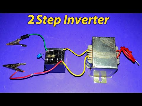 Experiment 12v DC to 220v AC Inveter (using relay) on