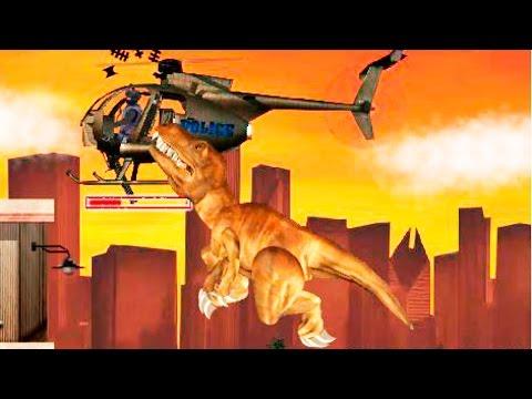 ДИНОЗАВР РЕКС в Лос Анджелесе #1 уничтожает всех ВИДЕО игра как мультик для детей LA REX DINOSAUR