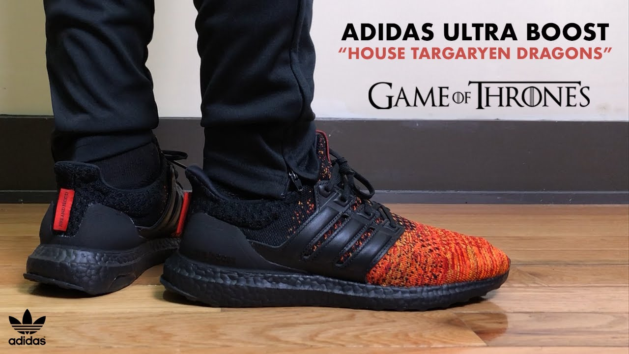 a675df783 Adidas Ultra Boost x Game of Thrones House Targaryen Dragon Review ...