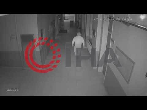 Karaman'da hırsızın görünmemek için emeklediği anlar