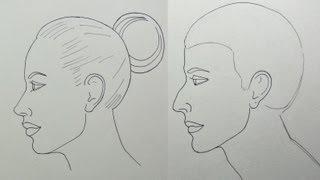 Cómo dibujar un rostro de perfil fácilmente - Arte Divierte.