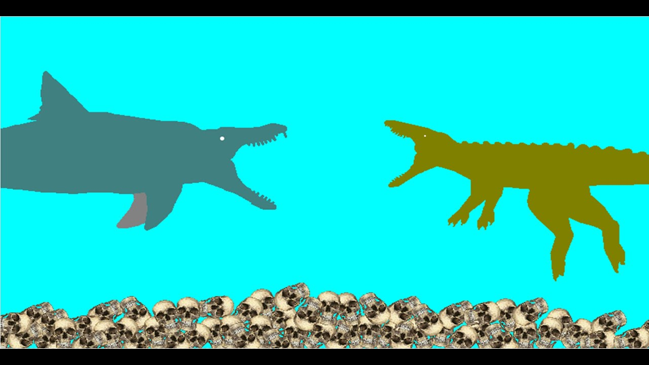 Peru Vs New Zealand >> PFA - RedHeros Dinoshark vs Dinocroc   Doovi