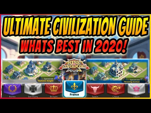 BEST CIVILIZATIONS IN RISE OF KINGDOM | ULTIMATE GUIDE | Top Civs to Pick for RoK in 2020