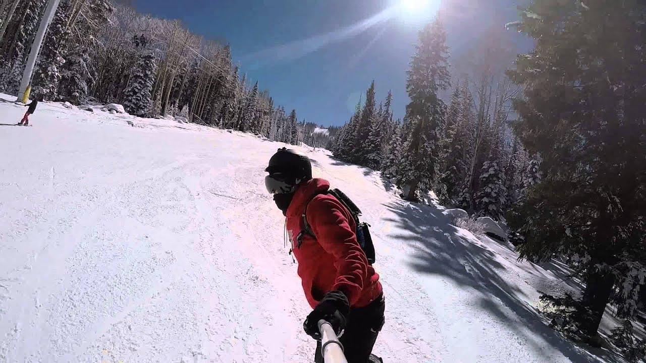 sunrise park ski resort- 2015 - terrain park top to bottom - youtube