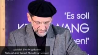 VIP Reception in the honour of Hadhrat Mirza Masroor Ahmad in Hamburg on 5th December 2012