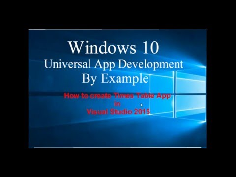 Windows 10 Universal App Development By Example in Visual Studio 2015 - Time Table App