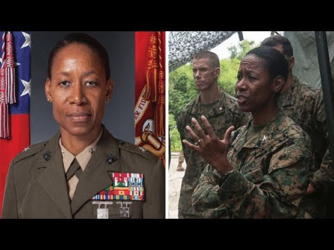 Marine nominated by Donald trump to be America's first female black General.