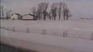 Video showing snow in the fields and ditches