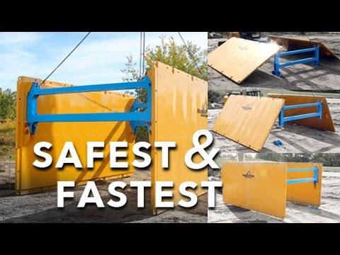 SAFEST FASTEST Trench Box Shoring Setup - GROUNDWORKS