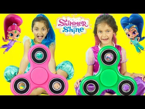 Thumbnail: SHIMMER AND SHINE TOYS SURPRISES 3 WISHES VIDEO #2! SHIMMER & SHINE TOYS ,FIDGET SPINNERS