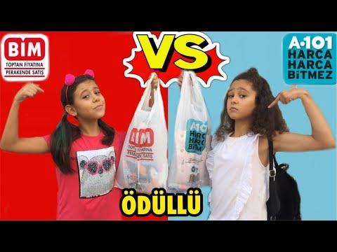 BİM A101 CHALLENGE! 20 TL Okula Dönüş 2019 Alışverişi Back To School-Eğlenceli Çocuk Videosu Sevimli