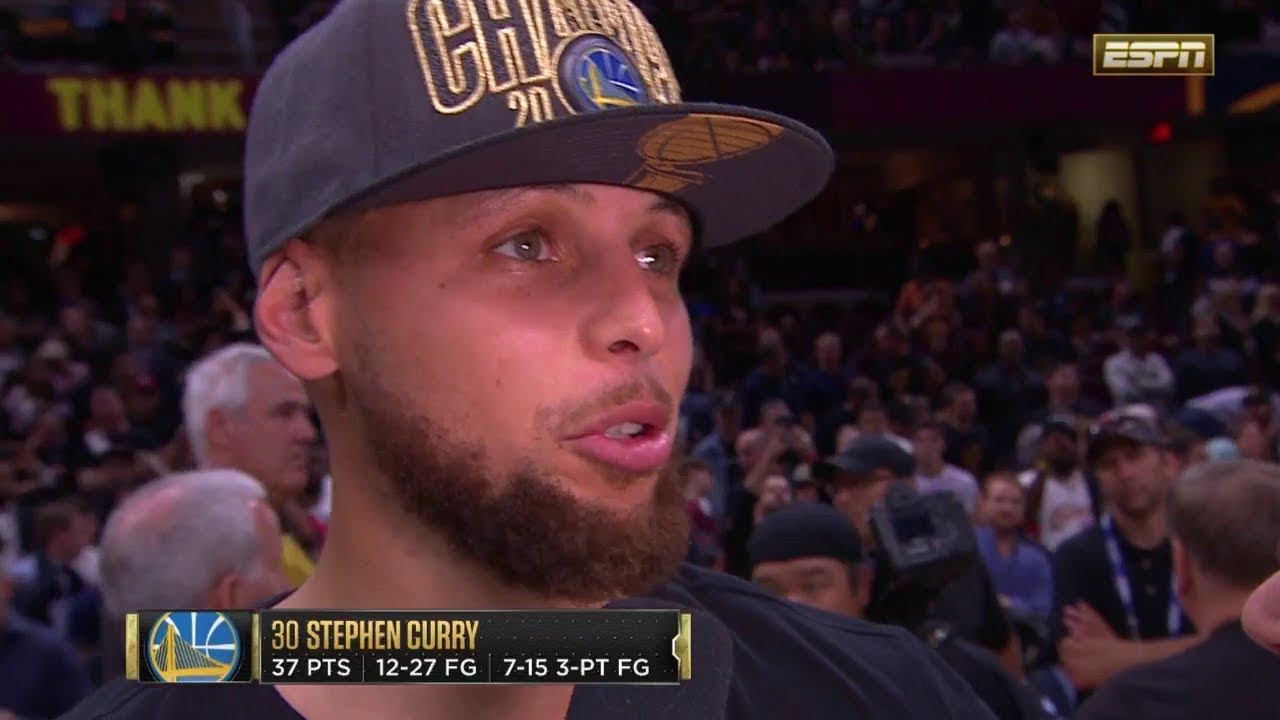 Stephen Curry Postgame Interview - Game 4 | Warriors vs Cavaliers | June 8, 2018 | 2018 NBA ...