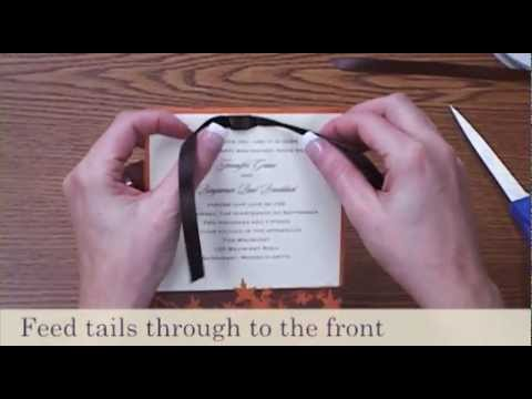 How to Tie a Bow - Flat Bow | Wedding Invitations - YouTube