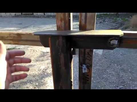 Как сделать засовы на уличные ворота