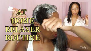 How To Apply Hair Relaxer   12Wks   Hair Update #17   Vicky J.