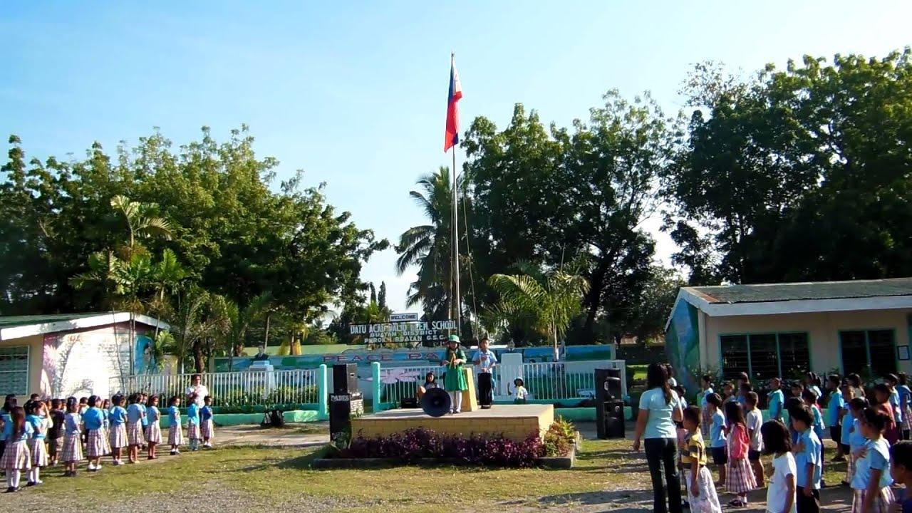 Flying the flag at Philippine schools - YouTube Raising Ceremony