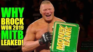 Real Reason Why Brock Lesnar WON 2019 Money In The Bank Briefcase REVEALED! Brock FORCED To Return!