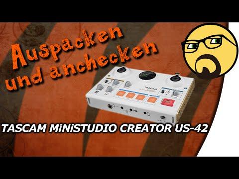MiNiSTUDIO CREATOR US-42   TASCAM   *DEUTSCH* *UNBOXING*   Auspacken Und Anchecken