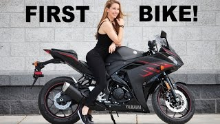 Girlfriends First Motorcycle! 2017 Yamaha R3