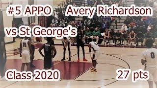 APPO #5 Avery Richardson vs St George's 27 pts Class 2020