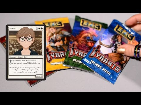 MTGirl: EPIC Card Game Tyrants Unpacking and Review